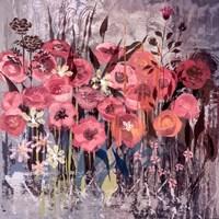 Pink Floral Frenzy I Fine-Art Print