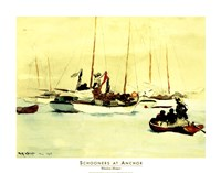 Schooners at Anchor Fine-Art Print