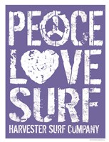 Peace Love Surf Fine-Art Print
