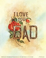 I Love You Dad Fine-Art Print
