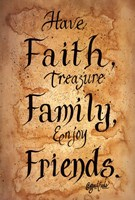Faith, Family, Friends Fine-Art Print