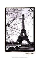 Eiffel Tower Along the Seine River Fine-Art Print