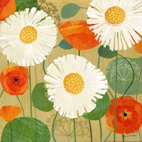 Daisies and Poppies II Fine-Art Print