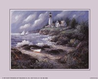 Lighthouse and Boat Fine-Art Print