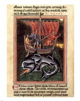 12th Century Painters - On Whales Folio from a Bestiary Fine-Art Print