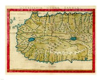 1561 Map of West Africa by Girolamo Ruscelli Fine-Art Print