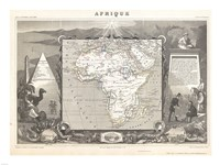 1847 Levasseur Map of Africa Fine-Art Print