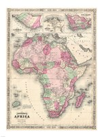 1864 Johnson Map of Africa Fine-Art Print