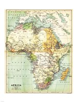 Map of Africa 1885 Fine-Art Print
