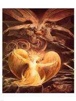 William Blake the dragon Fine-Art Print