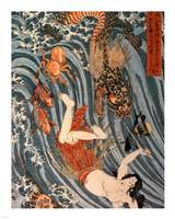 Tamatori Being Pursued by a Dragon Fine-Art Print
