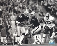 Marcus Allen & Jim Plunkett Super Bowl XVIII Action Fine-Art Print
