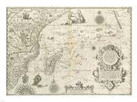 East Africa and the Indian Ocean 1596, Arnold Florent van Langren Fine-Art Print