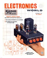Electronics World September, 1959 Fine-Art Print