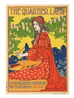 The Quartier Latin, a Magazine Devoted to the Arts, Advertising Poster, ca.1895 Fine-Art Print