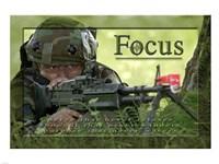 Focus Affirmation Poster, USAF Fine-Art Print