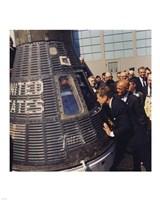 JFK Inspects Mercury Capsule Fine-Art Print