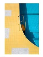 High angle view of a swimming pool ladder, Banderas Bay, Puerto Vallarta, Jalisco, Mexico Fine-Art Print