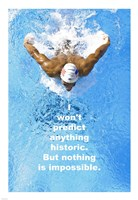 Historic Swimming Quote Fine-Art Print