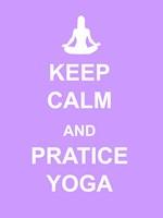 Keep Calm and Practice Yoga Fine-Art Print