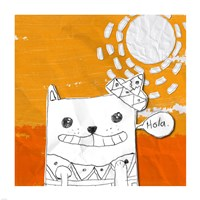 Hola Cat Fine-Art Print