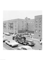 USA, New York City, fire engine Fine-Art Print