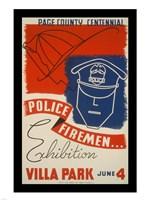 Police Firemen Exhibition Villa Park June 4th Fine-Art Print