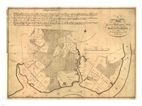 Map of Mt Vernon made by Washington Fine-Art Print