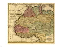 Map of Africa 1742 Fine-Art Print