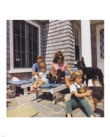 Photograph of Kennedy Family with Dogs During a Weekend at Hyannisport Fine-Art Print