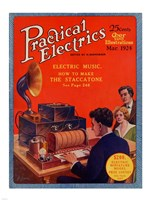 Practical Electrics March 1924 Cover Fine-Art Print