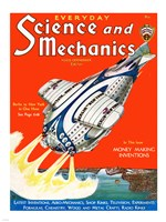 Science and Mechanics Nov 1931 Cover Fine-Art Print