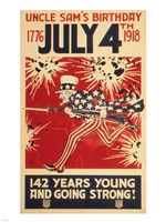 Uncle Sam's Birthday 1776 July 4th 1918 Fine-Art Print