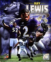 Ray Lewis 2011 Portrait Plus Fine-Art Print