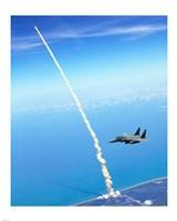 4th FW Strike Eagles Assist Shuttle Launch Fine-Art Print