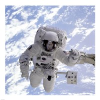 Michael Gernhardt in Space During STS-69 in 1995 Fine-Art Print