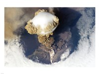 Sarychev Peak Volcano from Nasa Satelite Photo Fine-Art Print