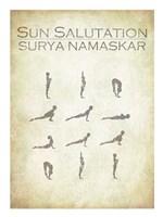 Sun Salutation Chart Fine-Art Print