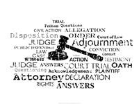 Law Words Fine-Art Print