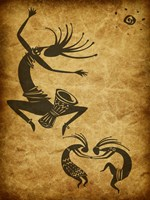Kokopelli Drum Circle Fine-Art Print