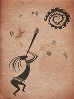Kokopelli Playing Under the Sun Fine-Art Print