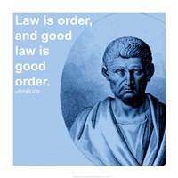 Aristotle Law Quote Fine-Art Print