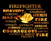 Firefighter Words Fine-Art Print