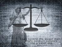 Justice Law Mark Twain Quote Fine-Art Print