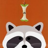 Peek-a-Boo Raccoon Fine-Art Print