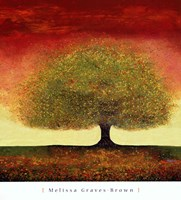 Dreaming Tree Red Fine-Art Print