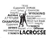 Lacrosse Text Fine-Art Print