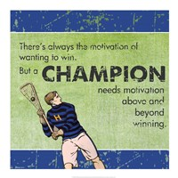 Motivation of a Champion Framed Print