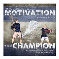 Motivation of Wanting to Win Fine-Art Print