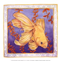 Goldfish On Purple Fine-Art Print